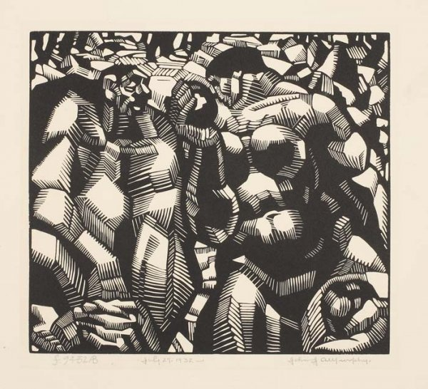 2069016: AMERICAN PRINTMAKERS Group of 5 woodcuts.