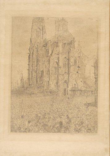 2070008: JAMES ENSOR La Cathedrale, 1re planche.