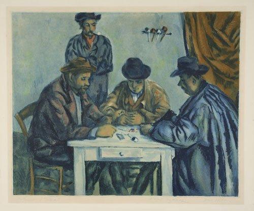 2070014: PAUL CÉZANNE (after) Les Joueur des Cartes