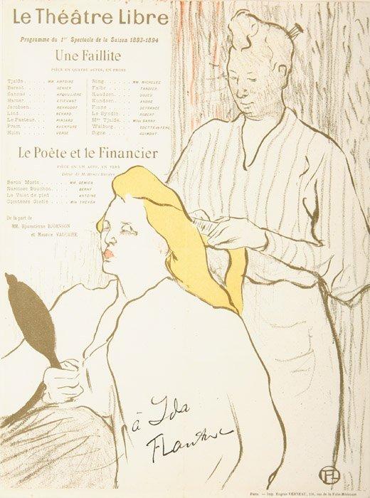 2070015: HENRI TOULOUSE-LAUTREC La Coiffure, Programme