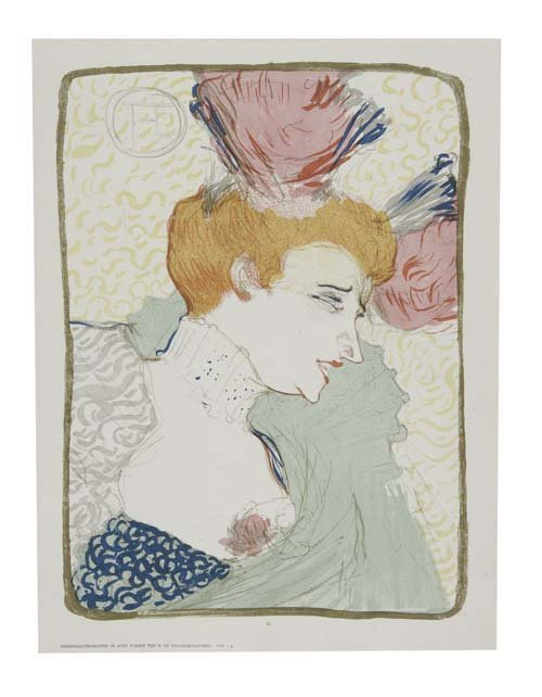 2070016: HENRI TOULOUSE-LAUTREC Mademoiselle Marcel Len