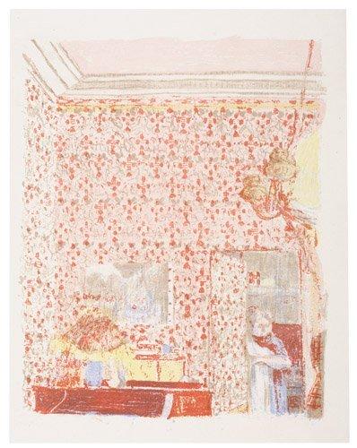 2070020: EDOUARD VUILLARD Intérieur aux Tentures roses