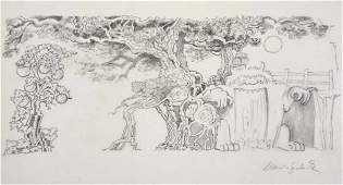 2071120: SENDAK, MAURICE. Two Signed pencil drawings.