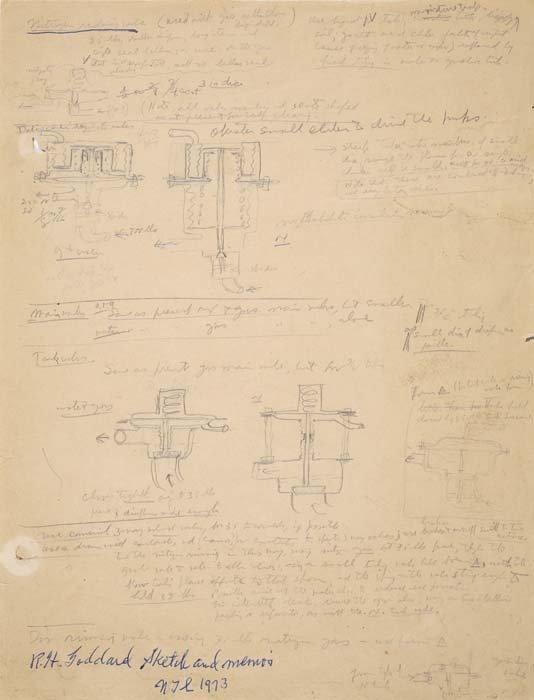2073003: GODDARD, ROBERT H. Manuscript and Drawings