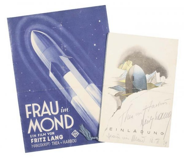 2073016: Frau im Mond. Two items related to the movie F
