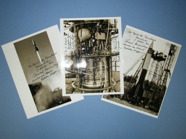 2073022: A-4/V-2 Photographs. Three modern copy photogr