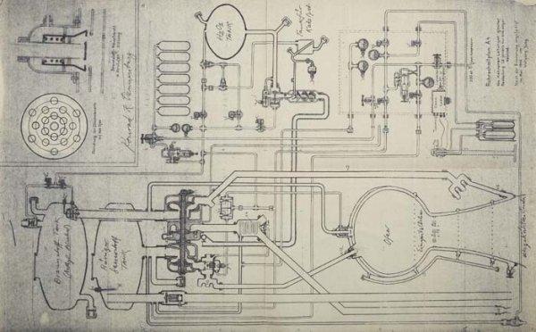 2073023: A-4/V-2 Blueprint of a 1946 drawing illustrati