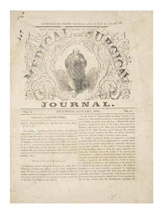 2072168: MILITARY MEDICINE  CIVIL WAR  Confederate Stat