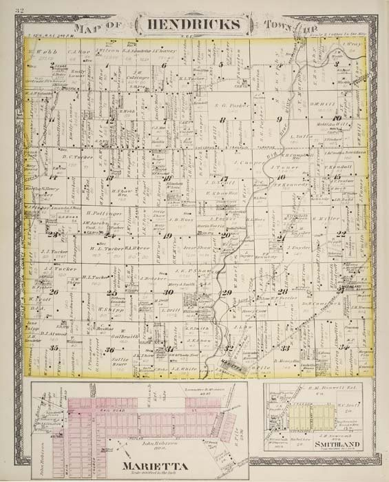 2074015: (INDIANA.) Beers, J. H. Atlas of Shelby Co. In