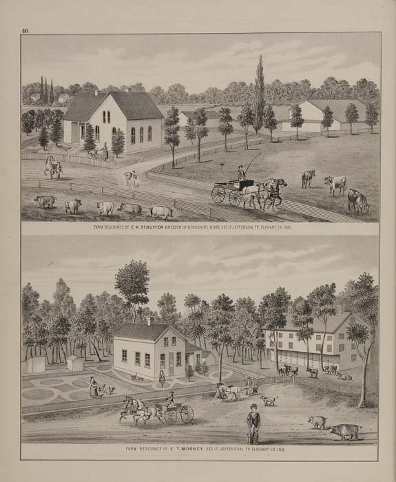 2074017: (INDIANA.) Warner & Beers. An Illustrated Hist