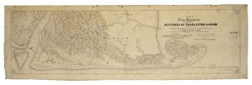 2074055: (CIVIL WAR.) Hall, William E. Map of Siege Ope