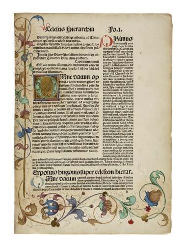 2075022: DIONYSIUS, the Areopagite, pseudo-. Opera.  3