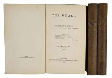 2075048: MELVILLE, HERMAN.  The Whale.  3 vols.  1851