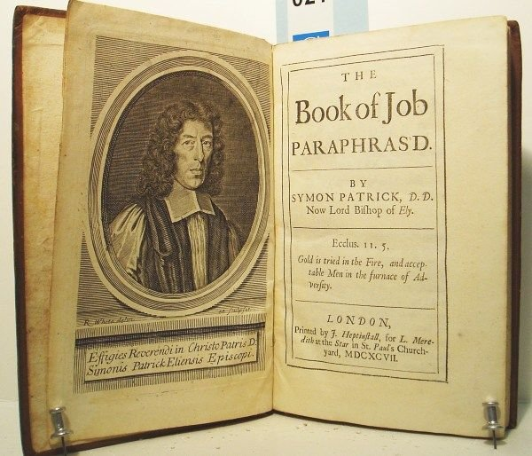 2076021: BIBLE IN ENGLISH.  The Book of Job Paraphras'd