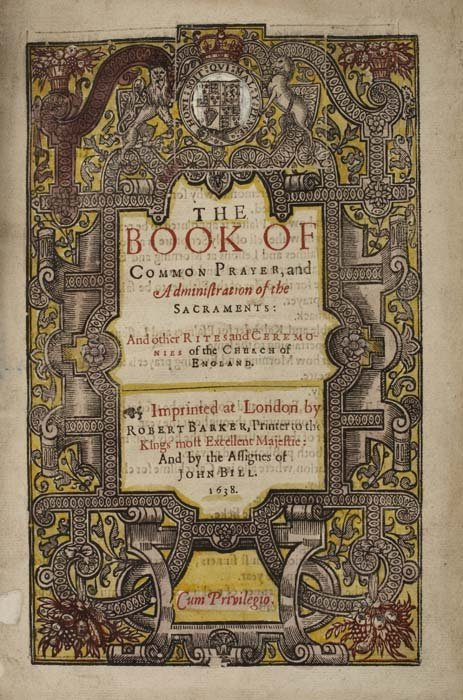 2076038: BOOK OF COMMON PRAYER  1638  The Book of Commo