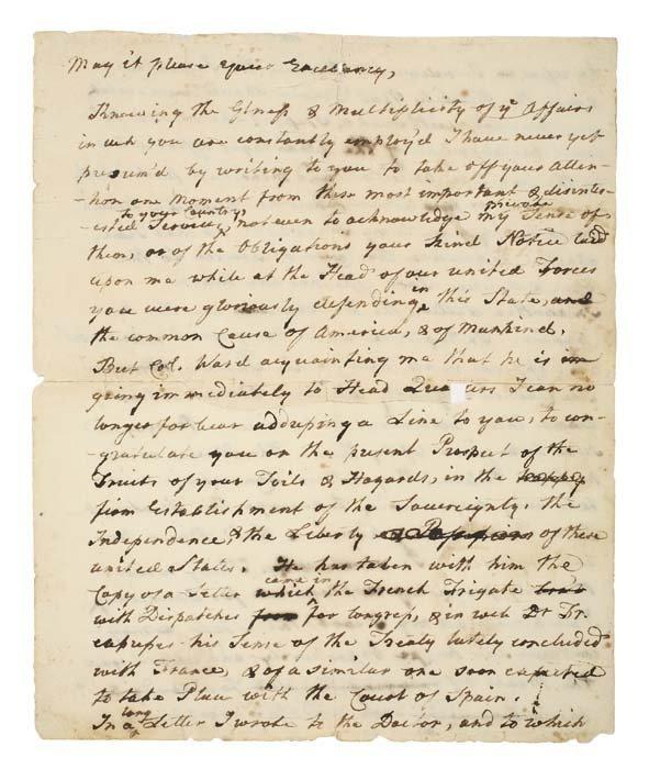 2077003: (AMERICAN REVOLUTION.) COOPER, SAMUEL. Retaine