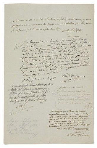 2077006: (AMERICAN REVOLUTION.) LAFAYETTE; MARQUIS DE.