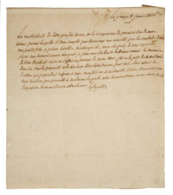 2077007: (AMERICAN REVOLUTION.) LAFAYETTE; MARQUIS DE.