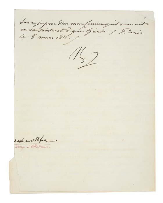 "2077017: BONAPARTE, NAPOLEON. Letter Signed, ""Np,"""