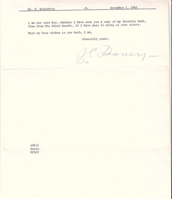 2077024: (BUSINESS.) PENNEY, JAMES C. Typed Letter Sign