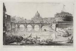 2078087: GIOVANNI B. PIRANESI Veduta del Ponte e Castel