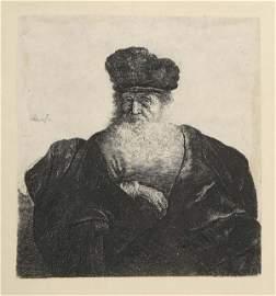 2078149: REMBRANDT VAN RIJN Old Man with Beard, Fur Cap