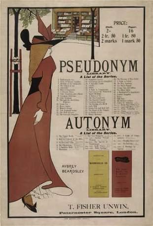 2079001: Poster. AUBREY BEARDSLEY (1872-1898). PSEUDONY