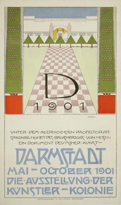 2079005: Poster. JOSEPH MARIA OLBRICH (1867-1908). DARM