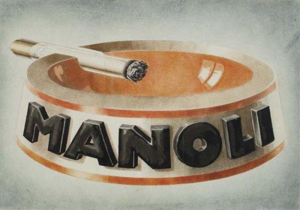 2079011: Poster. LUCIAN BERNHARD (1883-1950). MANOLI. W