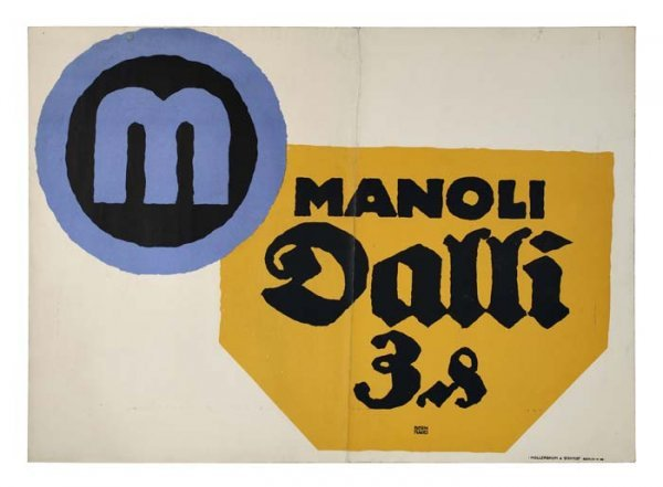2079013: Poster. LUCIAN BERNHARD (1883-1972). MANOLI DA