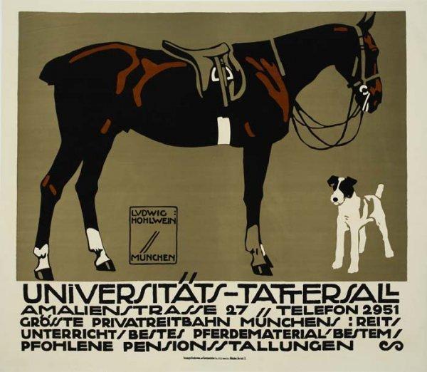 2079020: Poster. LUDWIG HOHLWEIN (1874-1949). UNIVERSIT