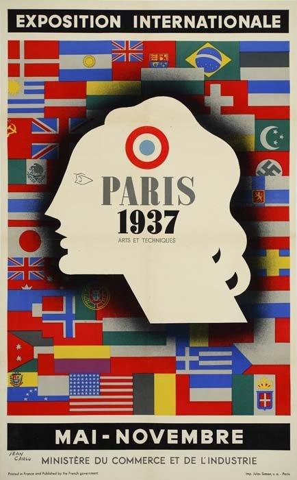 2079060: Poster. JEAN CARLU (1900-1997). PARIS ARTS ET