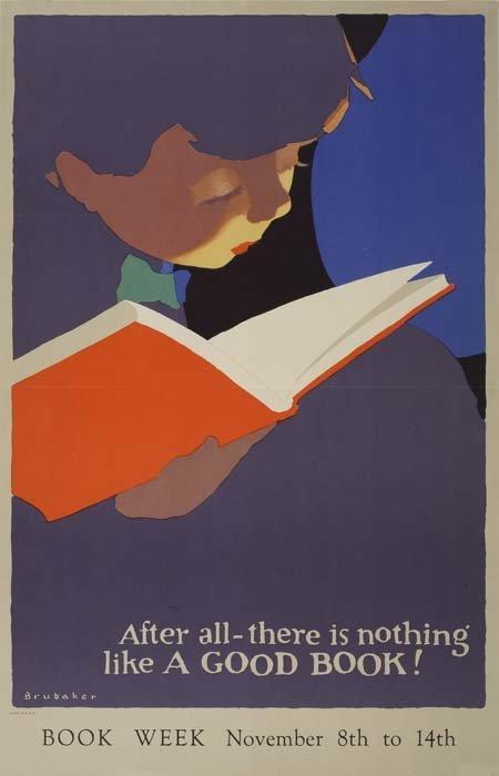 2079127: Poster. JON O. BRUBAKER (1875-?). BOOK WEEK. 1
