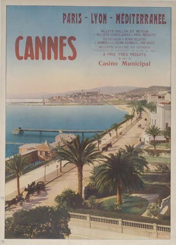 2: Beach Posters. ANONYMOUS. CANNES. Circa 1910. 42x30