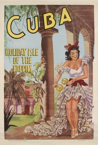 3: Beach Posters. ANONYMOUS. CUBA. 30x21 inches. Artes