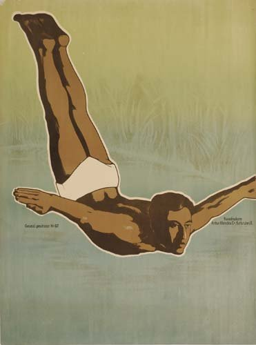 4: Beach Posters. ANONYMOUS. [DIVER.] 40x30. inches. Ar