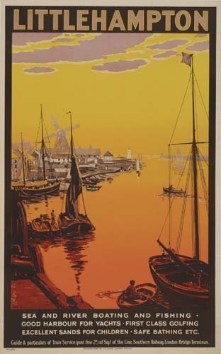 7: Beach Posters. ANONYMOUS. LITTLE HAMPTON. 1923. 39x2