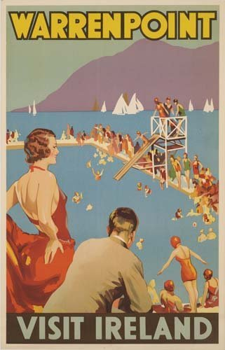 12: Beach Posters. ANONYMOUS. WARRENPOINT / VISIT IRELA