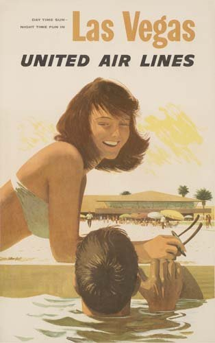 21: Beach Posters. STAN GALLI LAS VEGAS / UNITED AIR LI