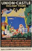 44: Beach Posters. PADDEN UNION-CASTLE. 39x25 inches.