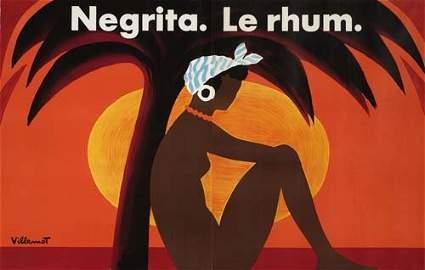 55: Beach Posters. BERNARD VILLEMOT NEGRITA LE RHUM. 56