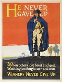 206A: Vintage Posters. WILLARD FREDERIC ELMES. HE NEVER