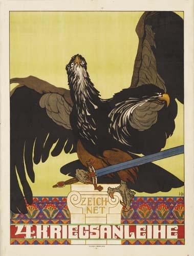 402: War Posters. HEINRICH LEFLER ZEICHNET 4. KRIEGSANL