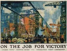 408: War Posters. JONAS LIE. ON THE JOB FOR VICTORY. Ci