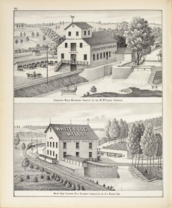 2083015: (INDIANA.) Beers, J. H. Atlas of Franklin Co.