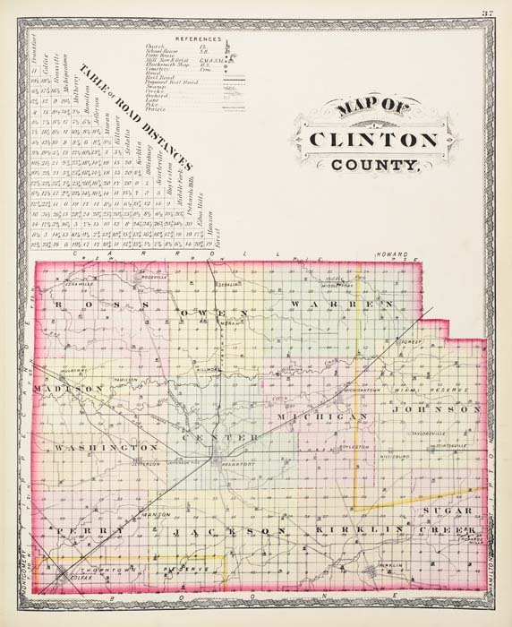 2083016: (INDIANA.) Kingman Brothers. Combination Atlas