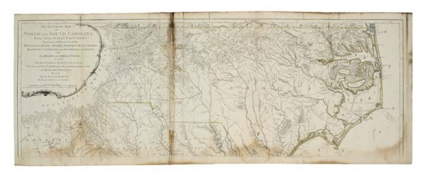 2083237: MOUZON, HENRY. An Accurate Map of North and So