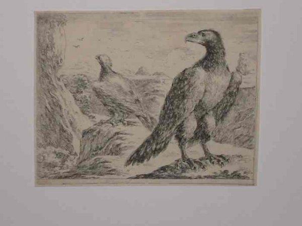 2084005: STEFANO DELLA BELLA Group of 4 etchings