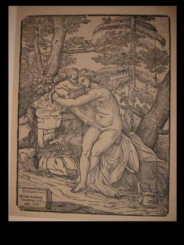 2084006: NICCOLO BOLDRINI (after Titian) Venus and Cupi