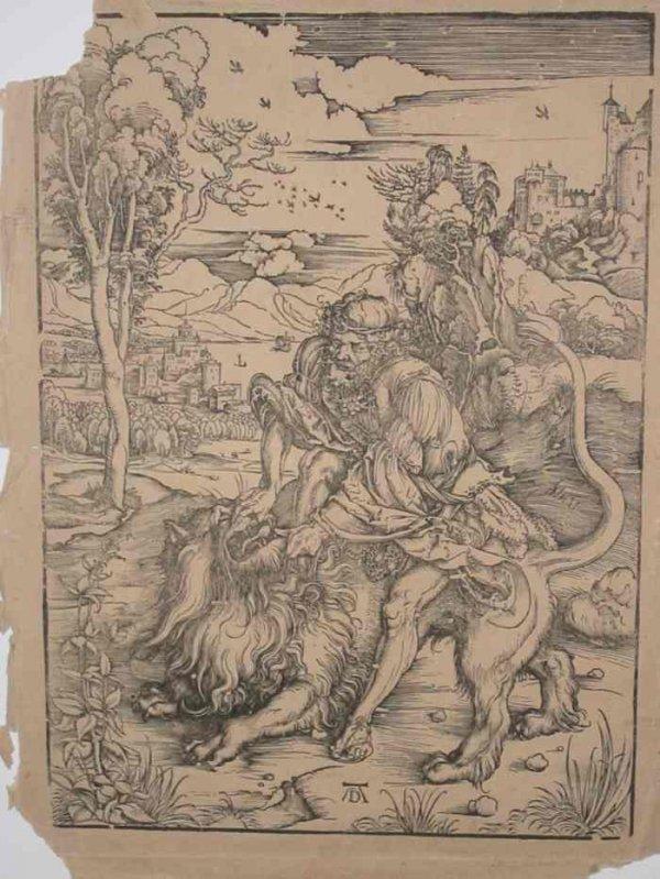 2084011: ALBRECHT DÜRER Samson Fighting with the Lion